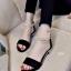 รองเท้าส้นเตี้ยรัดข้อสีดำ มีสายมุกรัดข้อปรับระดับ (สีดำ ) thumbnail 2