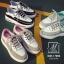 รองเท้าผ้าใบแฟชั่นสีดำ korea style ดีไซน์เก๋ส์ (สีดำ ) thumbnail 5