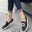 รองเท้าผ้าใบผู้หญิงสีดำ สไตล์ แบรนด์ Roger Vivier (สีดำ )