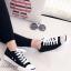 รองเท้าผ้าใบ แบบผูกเชือก สไตล์Jack-purcell (สีดำ ) thumbnail 1