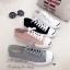 รองเท้าผ้าใบ แบบผูกเชือก สไตล์Jack-purcell (สีดำ ) thumbnail 3