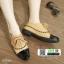 รองเท้าคัทชู สไตล์ชาแนล 7025-1-KAKI [สีกากี]
