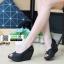รองเท้าคัชชูทรงโอ่งงานหนังแก้ว V2002-BLK [สีดำ]