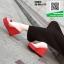 รองเท้าแบบสวมส้นเตารีด ST2012-RED [สีRED] thumbnail 1