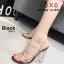 รองเท้าส้นสูงรัดส้นสีดำ พลาสติกในไม่บาดเท้า ส้นแก้ว (สีดำ ) thumbnail 1