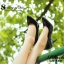 รองเท้าคัทชูส้นสูง หัวแหลม หนังแก้ว (สีดำ ) thumbnail 5