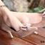 รองเท้าคัทชูหัวแหลม ส้นสูง แต่งโบว์ (สีน้ำตาล ) thumbnail 6