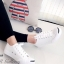 รองเท้าผ้าใบ แบบผูกเชือก สไตล์Jack-purcell (สีขาว ) thumbnail 1