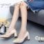 รองเท้าคัทชูส้นตันสีครีม หัวแหลม New collection Valentino style (สีครีม ) thumbnail 4
