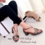 รองเท้าส้นเตี้ย ปิดส้น สายรัดข้อเท้า ปลายเปิด (สีเทา ) thumbnail 1