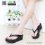 รองเท้าส้นเตารีดเนื้อโฟมใส่สบาย M1536-BLK [สีดำ] thumbnail 1