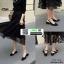 รองเท้าส้นสูงทรงหรู รัดหลัง G-1365-BLK [สีดำ]