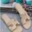 รองเท้าแตะ แบบสวม สไตล์H (สีชมพู )