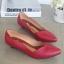 รองเท้าคัทชูส้นเตี้ย หัวแหลม ขอบหยัก (สีแดง) thumbnail 1