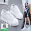 รองเท้าผ้าใบเสริมส้นสีขาว สไตล์เกาหลี (สีขาว ) thumbnail 1