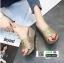 รองเท้าส้นเตารีด หน้าสวม กากเพชร 1902-GLD [สีทอง] thumbnail 1