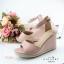 รองเท้าส้นเตารีดรัดข้อ (สีชมพู) thumbnail 2