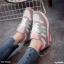 รองเท้าผ้าใบแฟชั่นสีขาว ทรงสปอร์ต (สีขาว ) thumbnail 1