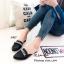 รองเท้าส้นเตี้ยสีดำ เปิดส้น Style Givenchy (สีดำ ) thumbnail 2