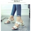 รองเท้าแตะส้นสูง ส้นตัน ทรงสวม (สีขาว ) thumbnail 2