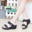 รองเท้าเพื่อสุขภาพ สายคาดมีดอกไม้ L1442-BLK [สีดำ] thumbnail 1