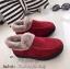 รองเท้าบูทลูกฟูก แต่งขอบด้วยขนนุ่มๆ ใส่หน้าหนาว (สีเลือดหมู )
