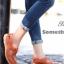 รองเท้าคัทชู สไตล์สุภาพ หนังนิ่ม (สีส้ม )