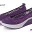 รองเท้าผ้าใบทรงคัชชู สไตล์สุขภาพ (สีม่วง ) thumbnail 5