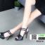 รองเท้าส้นสูงรัดส้น T-Strap G5276-BLK [สีดำ] thumbnail 5