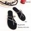 รองเท้าแตะผู้หญิงสีดำ แบบคีบ Style Zara (สีดำ )