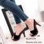 รองเท้าส้นสูงเปิดส้นสีดำ ใส่แล้วดูสูงเปรียว (สีดำ ) thumbnail 3