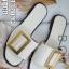 รองเท้าแตะผู้หญิงสีขาว งานชนช็อป BOYY (สีขาว )