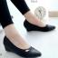 รองเท้าคัทชูส้นเตารีด หัวแหลม (สีดำ) thumbnail 1