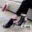 รองเท้าส้นสูงลุกส์ปราด้าที่รัดข้อ 10153-ดำ [สีดำ] thumbnail 1
