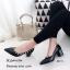 รองเท้าคัทชูหัวแหลมสีดำ หนังนิ่ม Style Valentino (สีดำ ) thumbnail 1