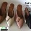 รองเท้าหัวแหลมเปิดส้น หน้าแต่งเข็มขัด A026-0505-BLK [สีดำ] thumbnail 3
