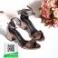 รองเท้าส้นตันรัดข้อสีเทา สไตล์ ZARA (สีเทา ) thumbnail 1