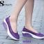 รองเท้าผ้าใบทรงคัชชู สไตล์สุขภาพ (สีม่วง ) thumbnail 3