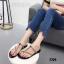 รองเท้าแตะแฟชั่นสีดำ แบบคีบ สไตล์แบรนด์ ZARA (สีดำ ) thumbnail 1