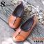 รองเท้าคัชชูหนังนิ่ม สไตล์สุขภาพ (สีส้ม ) thumbnail 3