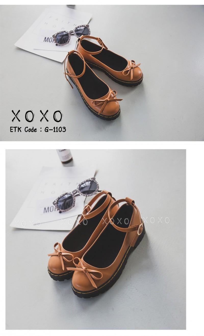 รองเท้าคัทชูสีกากี ทรง Dr. Matens (สีกากี )